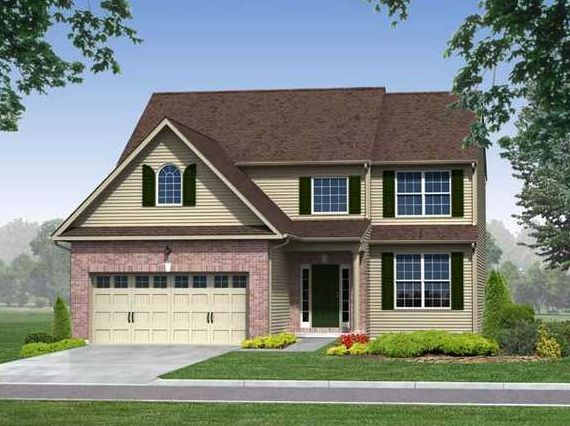 Exterior featured in the Bryce (Single) By Kay Builders in Allentown-Bethlehem, PA