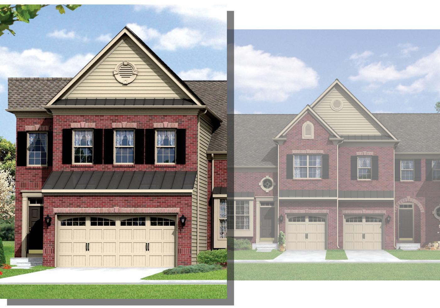Exterior featured in the Redwood II (Townhome) By Kay Builders in Allentown-Bethlehem, PA