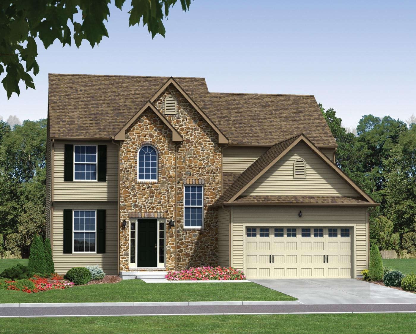 Exterior featured in the North (Single) By Kay Builders in Allentown-Bethlehem, PA