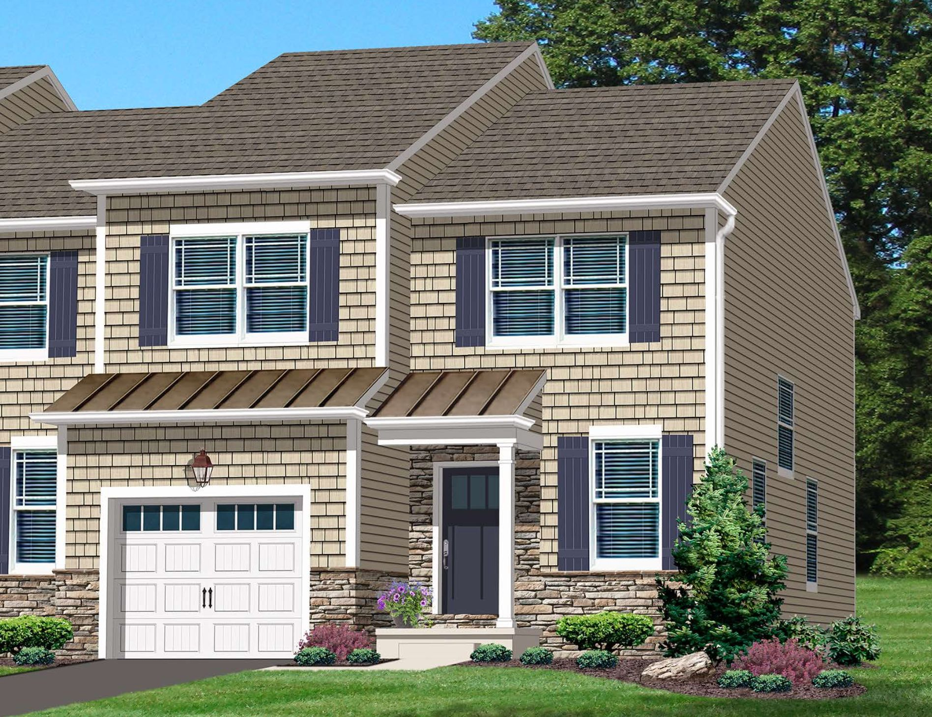 Exterior featured in the Northridge-Jasper By Kay Builders in Allentown-Bethlehem, PA