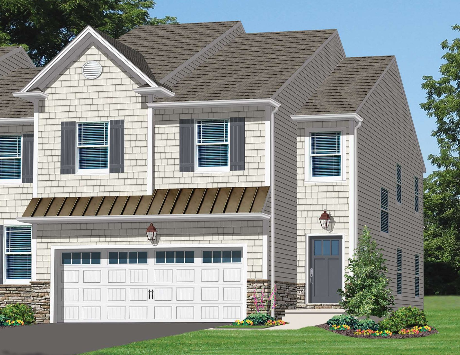 Exterior featured in the Avon-Jasper By Kay Builders in Allentown-Bethlehem, PA