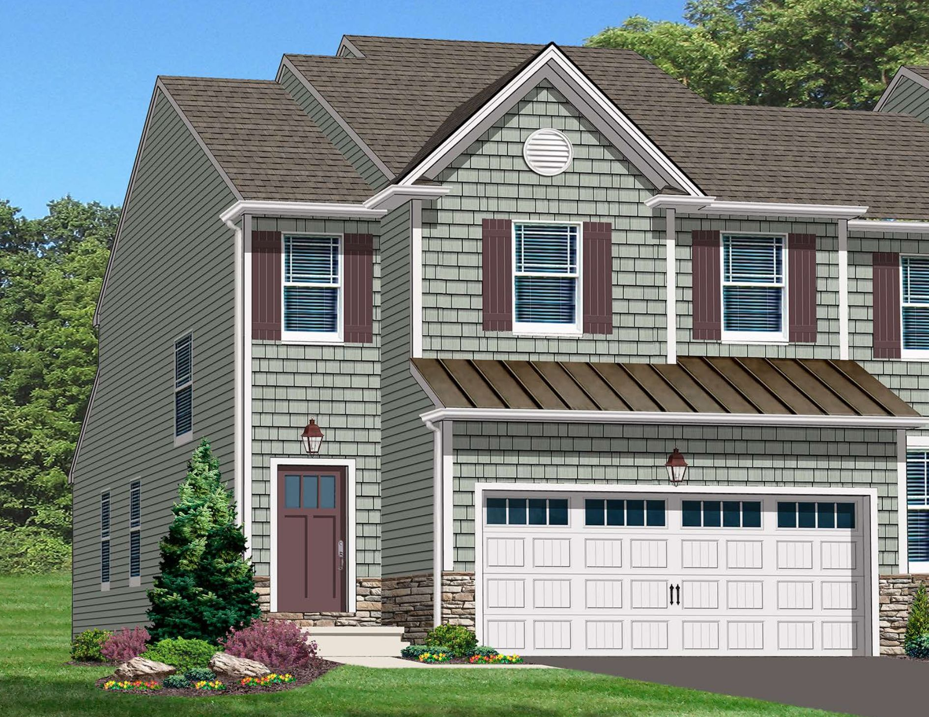 Exterior featured in the Lancaster-Jasper By Kay Builders in Allentown-Bethlehem, PA