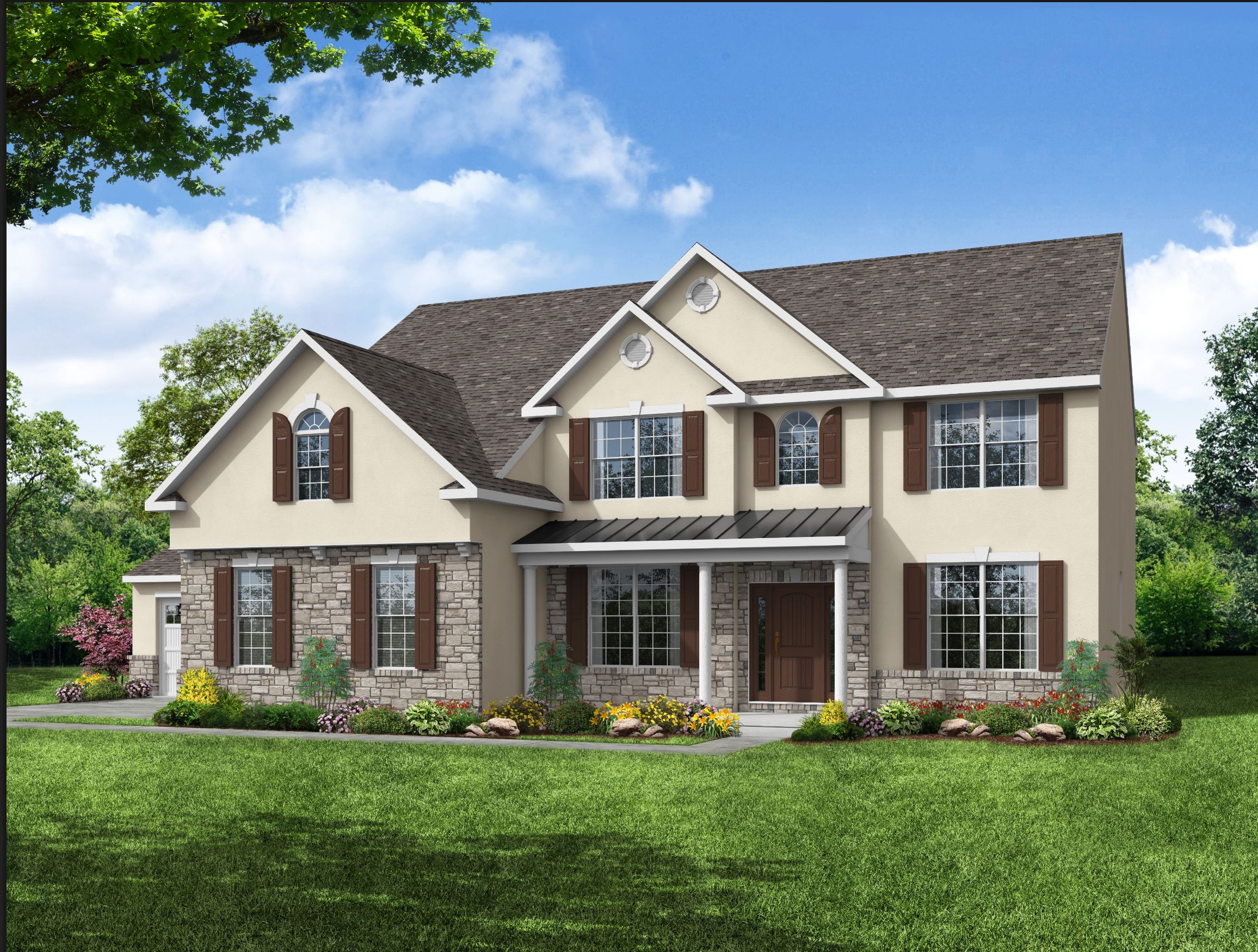 Exterior featured in the Rutherford 3 Car Garage By Kay Builders in Allentown-Bethlehem, PA