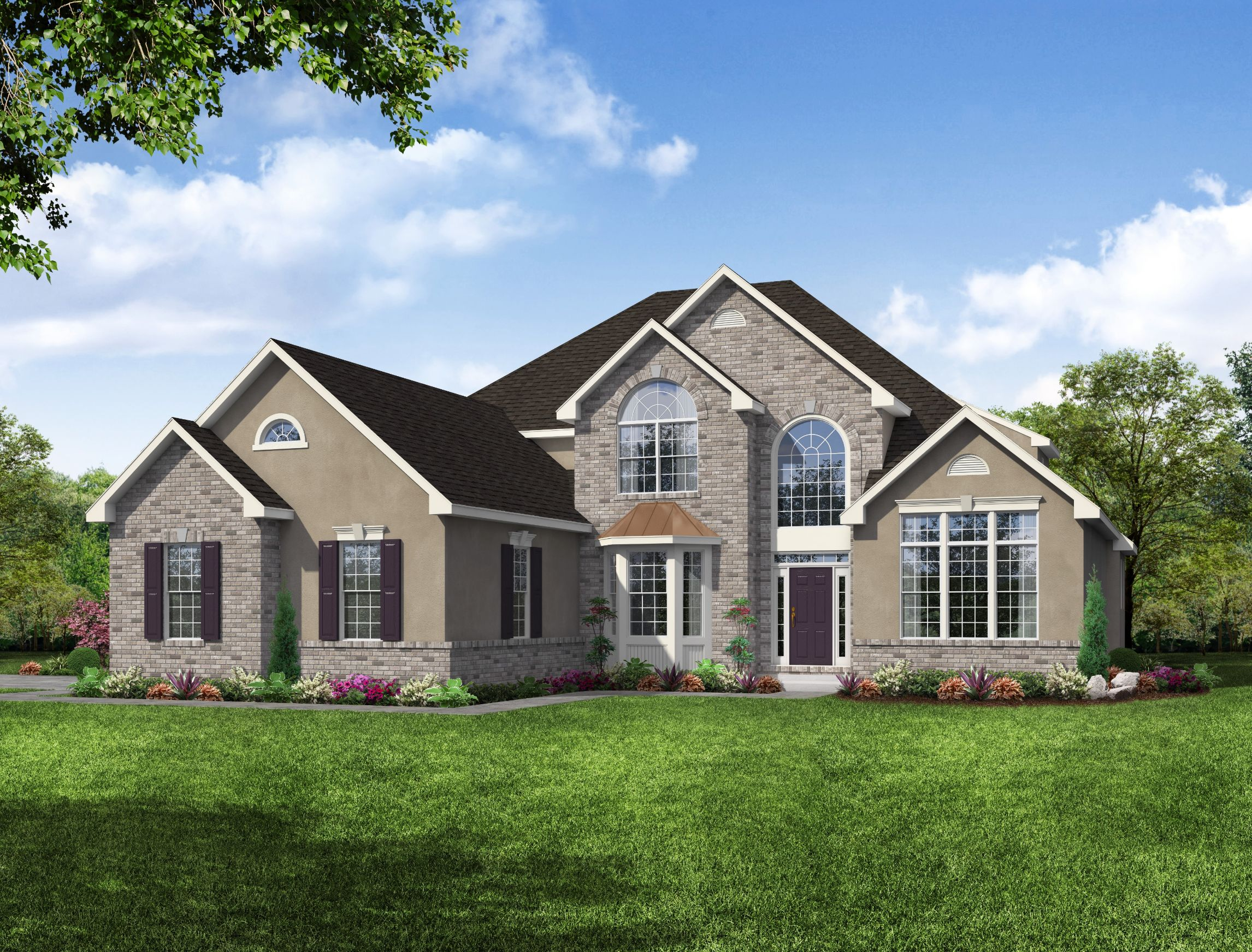 Exterior featured in the Glenridge 3 Car Garage By Kay Builders in Allentown-Bethlehem, PA