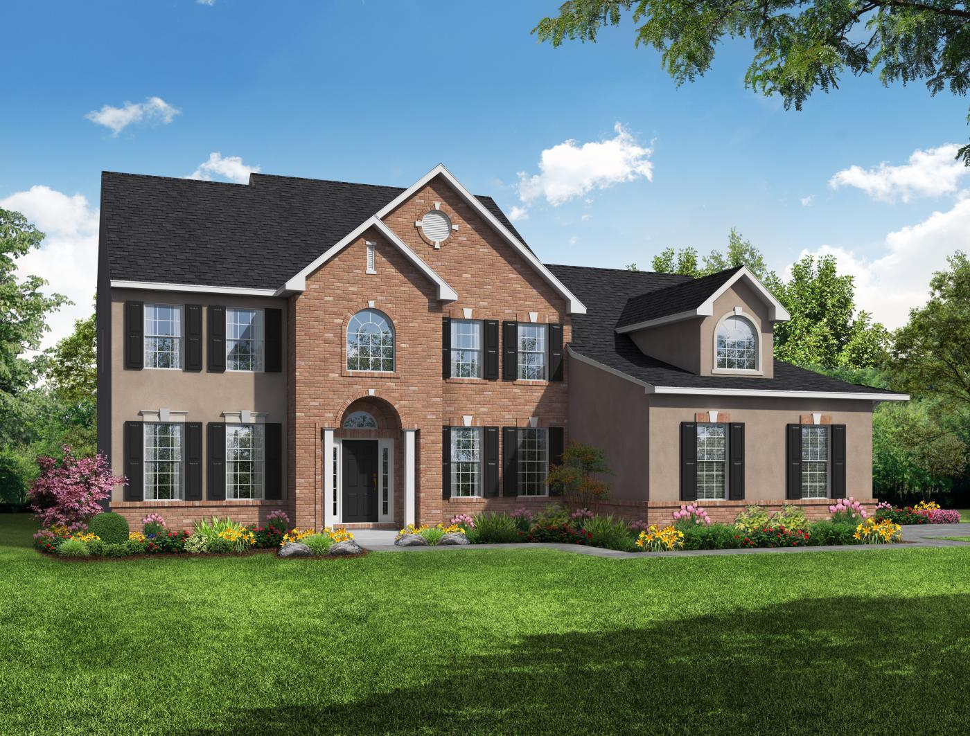 Exterior featured in the Quincy 3 Car Garage By Kay Builders in Allentown-Bethlehem, PA
