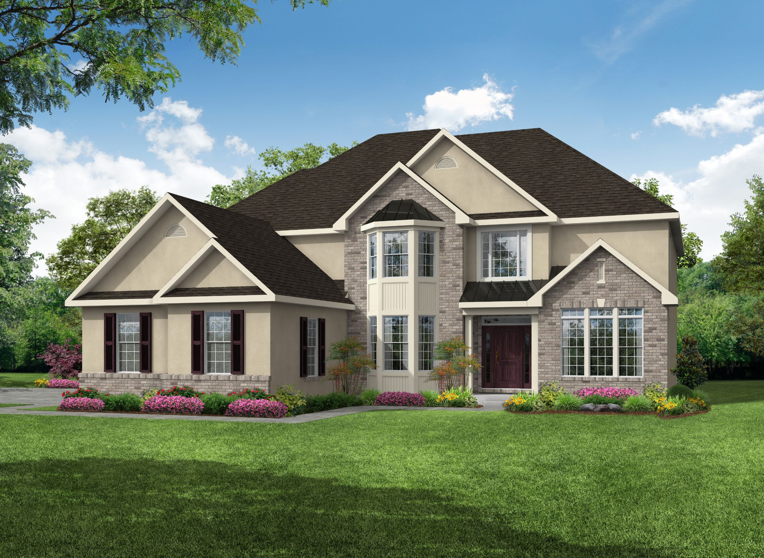 Exterior featured in the Clayton 3 Car Garage By Kay Builders in Allentown-Bethlehem, PA