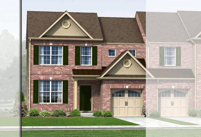 Exterior featured in the Biscayne (Townhome) By Kay Builders in Allentown-Bethlehem, PA