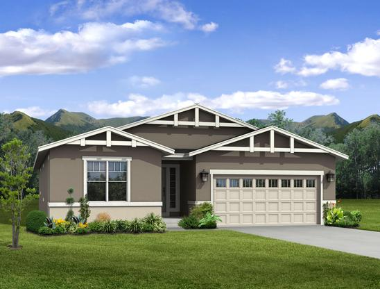 The Oxford - Ranch Home:Craftsman Exterior