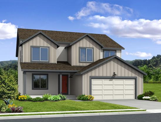 "The Jackson - 2 Story Home:""S"" Elevation (Rendering of home to be built)"