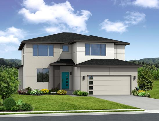 "The Windom - 2 Story Home:""T"" Elevation (Rendering of home to be built)"