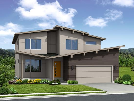 The Ellington - 2 Story Home:Modern (Rendering of home to be built)