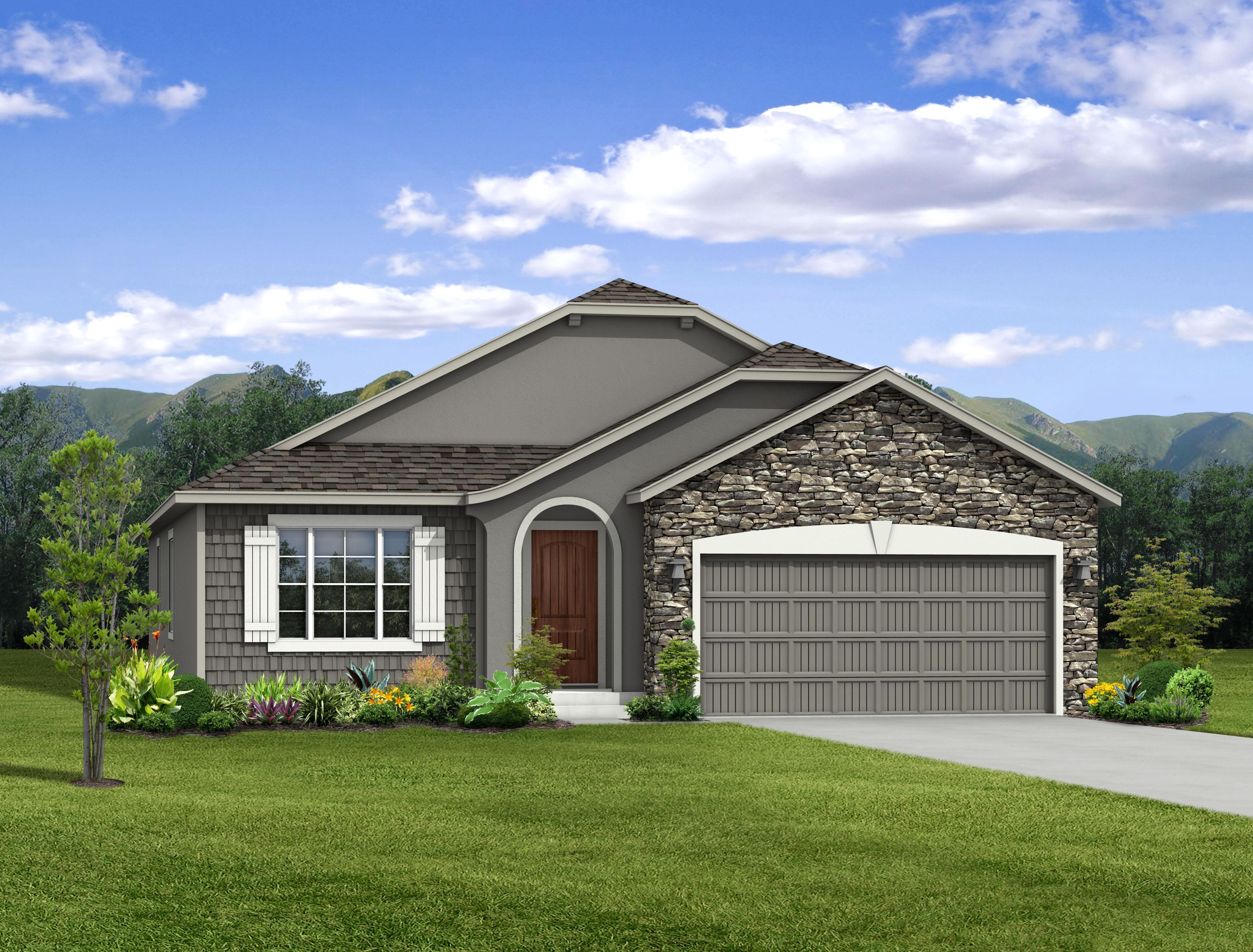Exterior featured in the Vineyard By Keller Homes, A Toll Bros. Co. in Colorado Springs, CO