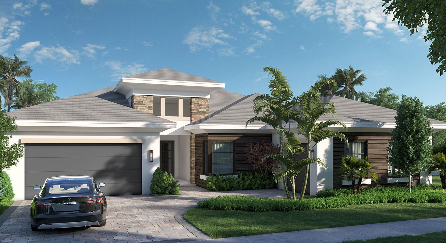 Exterior featured in the Cozumel By Kenco Communities at Avenir in Palm Beach County, FL