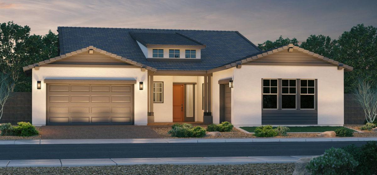 Exterior featured in the Silver Charm By Keystone Homes in Phoenix-Mesa, AZ