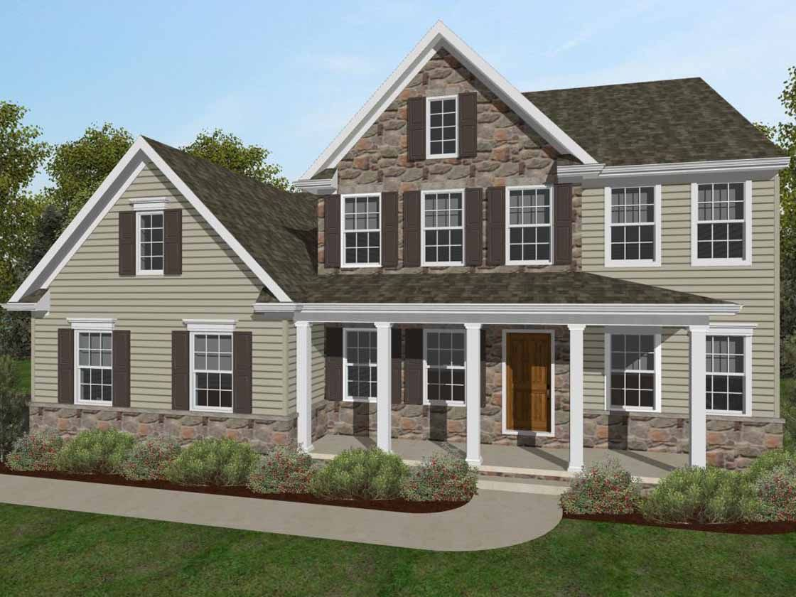Exterior featured in the Nottingham Traditional By Keystone Custom Homes in Baltimore, MD