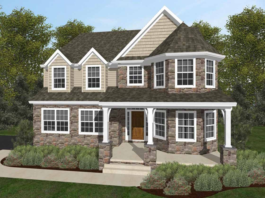 Exterior featured in the Covington Heritage By Keystone Custom Homes in Washington, MD