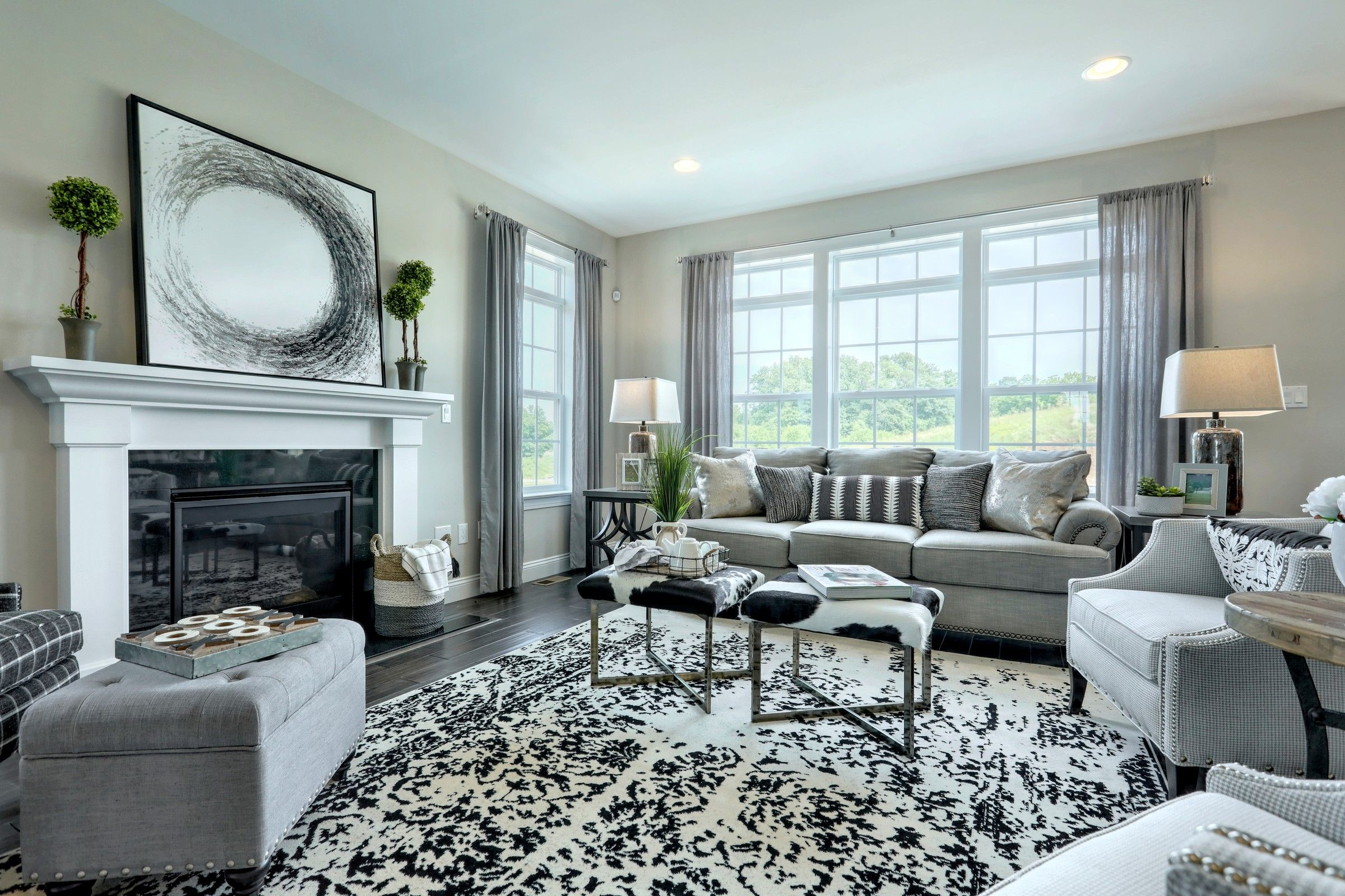 Living Area featured in the Addison Traditional By Keystone Custom Homes in Baltimore, MD