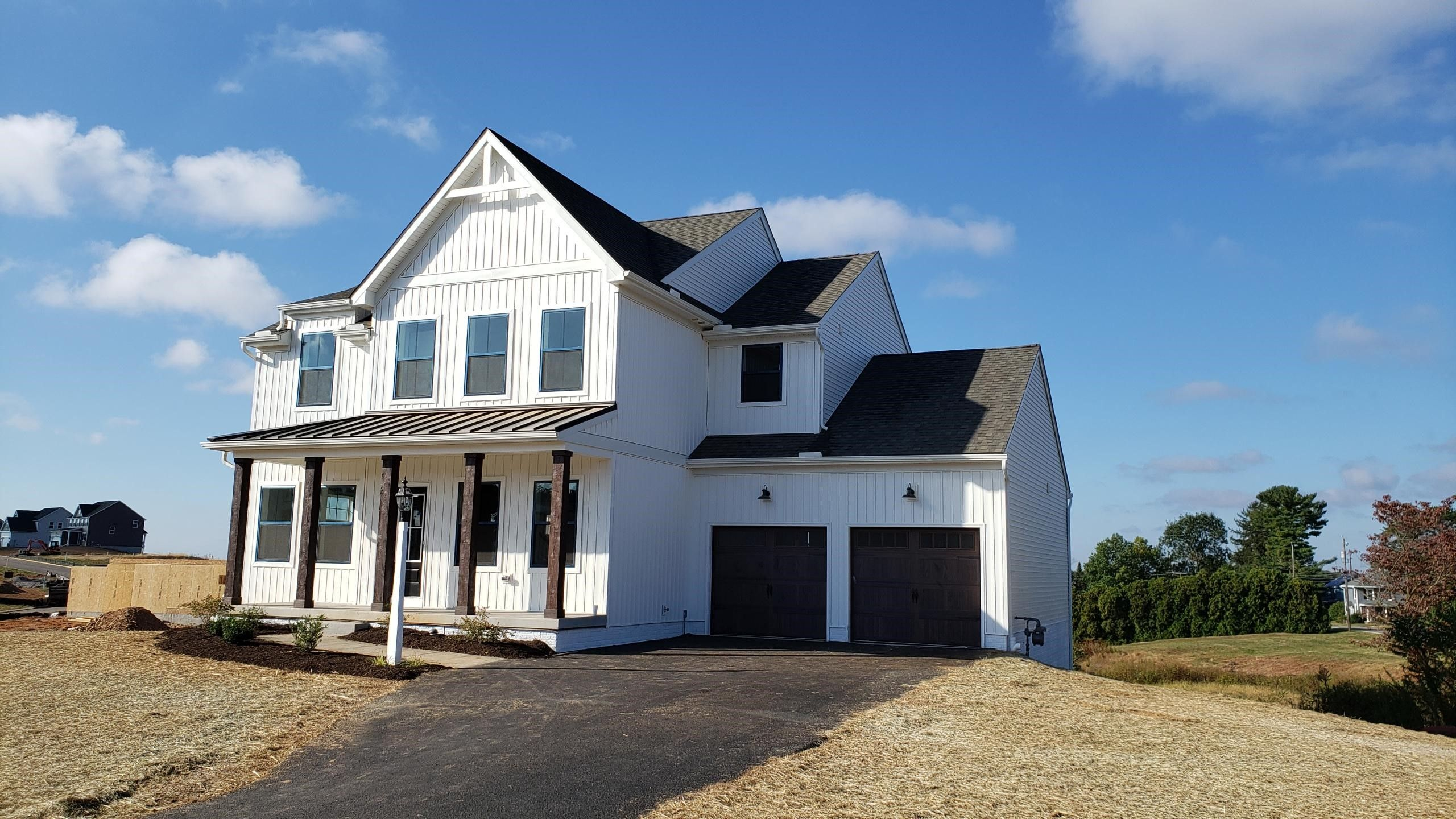 Exterior featured in the Addison Farmhouse By Keystone Custom Homes in Philadelphia, PA