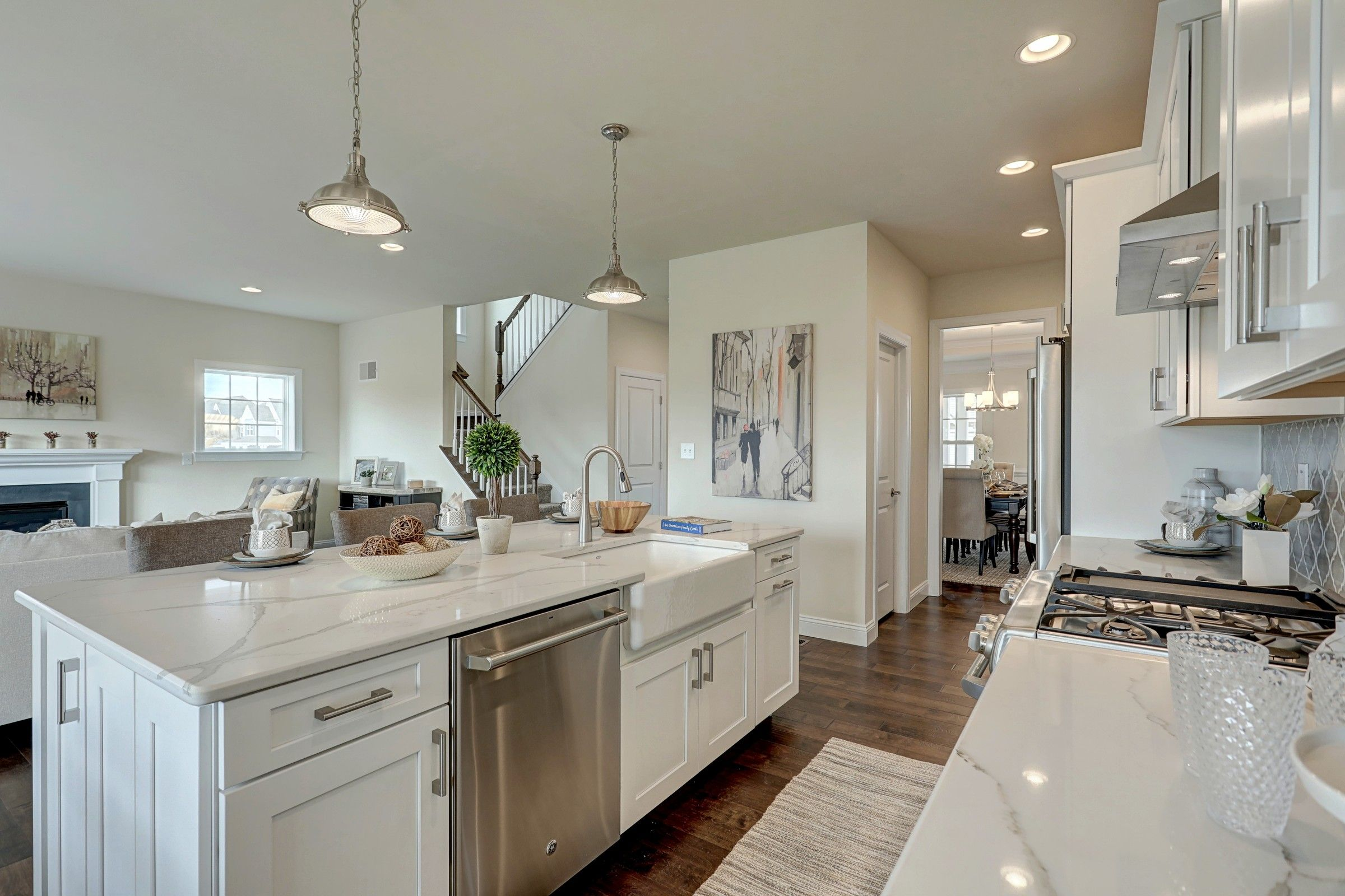 Kitchen featured in the Addison Farmhouse By Keystone Custom Homes in Philadelphia, PA