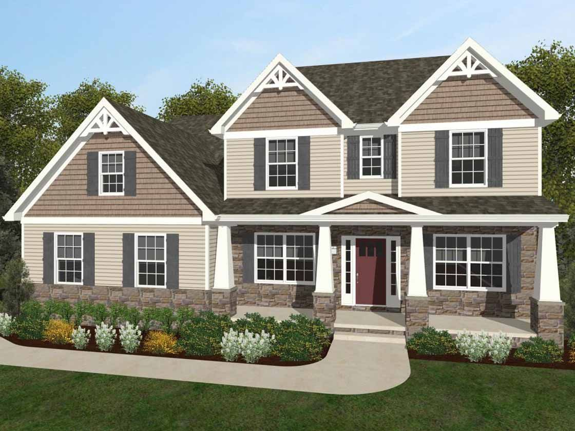 Exterior featured in the Ethan Manor By Keystone Custom Homes in York, PA