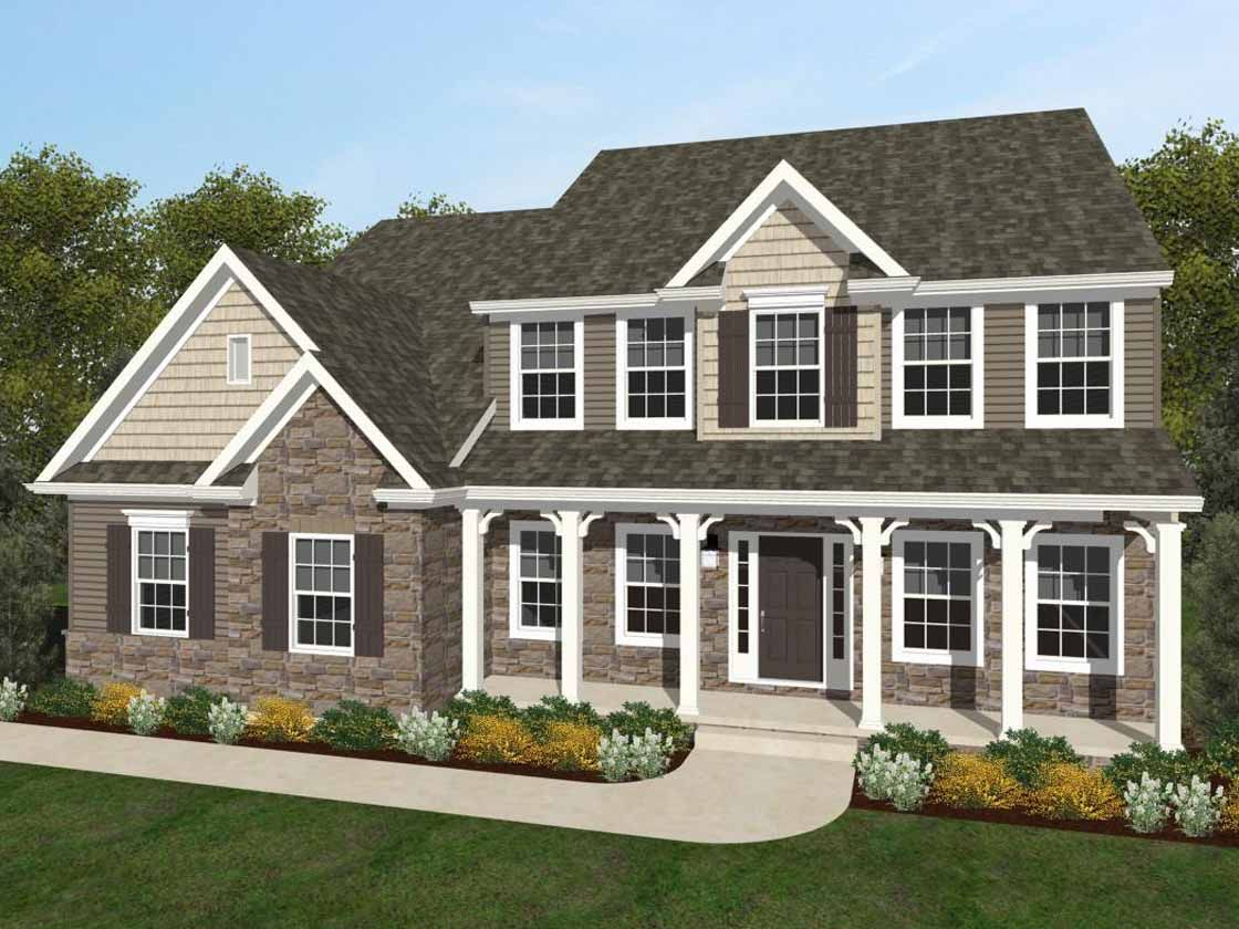 Exterior featured in the Ethan Heritage By Keystone Custom Homes in Baltimore, MD