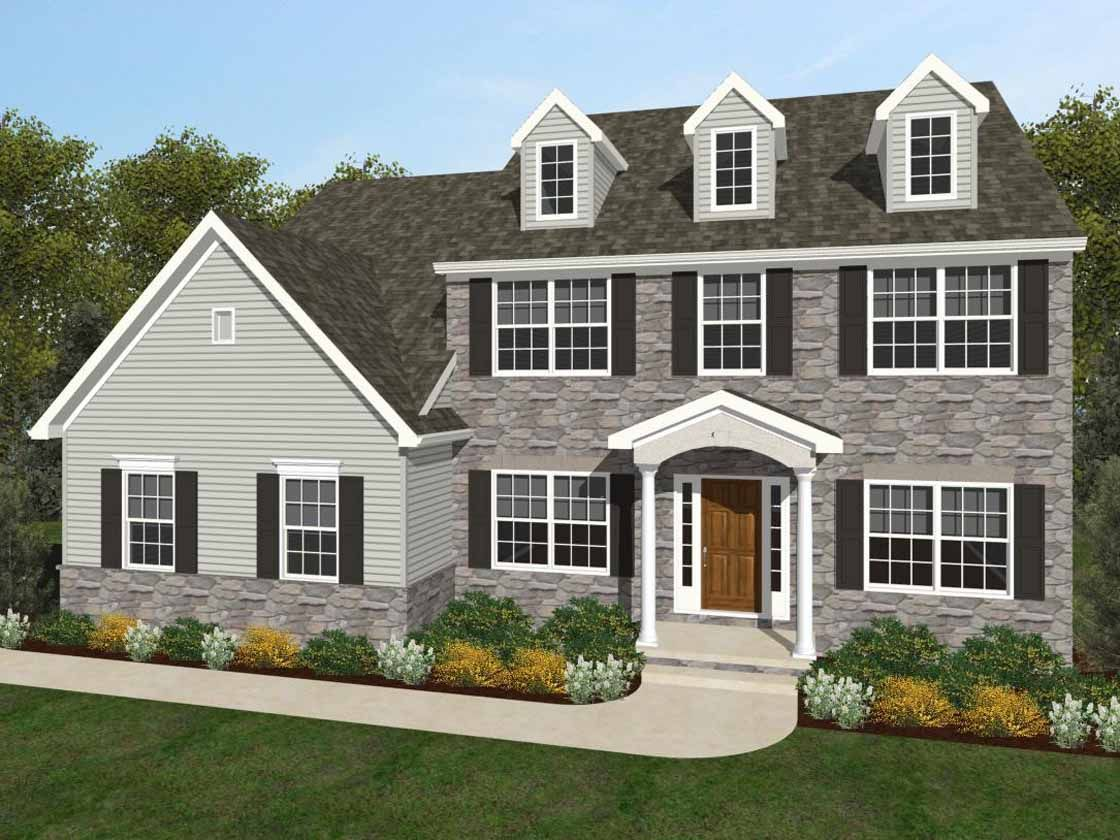 Exterior featured in the Ethan Traditional By Keystone Custom Homes in York, PA