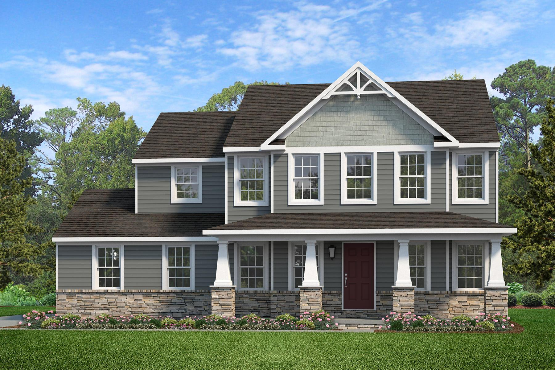 Exterior featured in the Windsor Heritage By Keystone Custom Homes in Philadelphia, PA