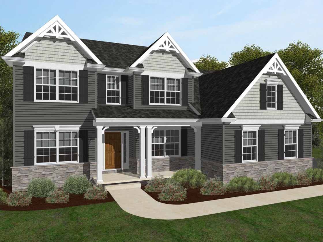 Exterior featured in the Augusta Heritage By Keystone Custom Homes in Baltimore, MD