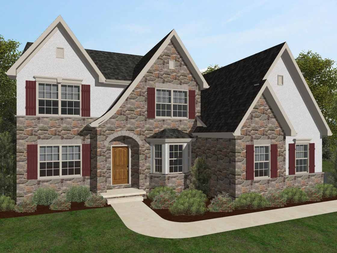 Exterior featured in the Augusta Vintage By Keystone Custom Homes in Baltimore, MD
