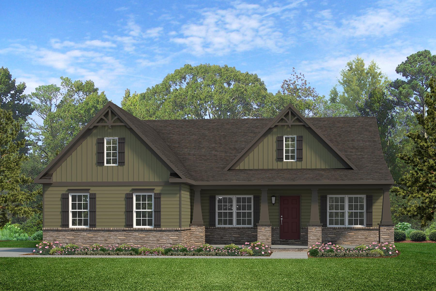 Exterior featured in the Arcadia Heritage By Keystone Custom Homes in Harrisburg, PA