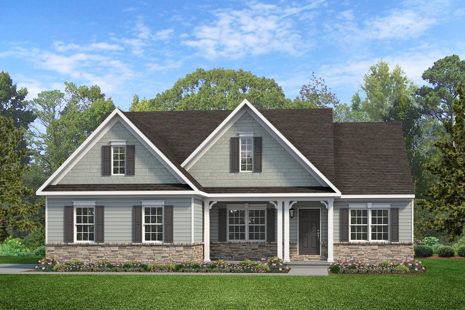 Exterior featured in the Arcadia Traditional By Keystone Custom Homes in Washington, MD