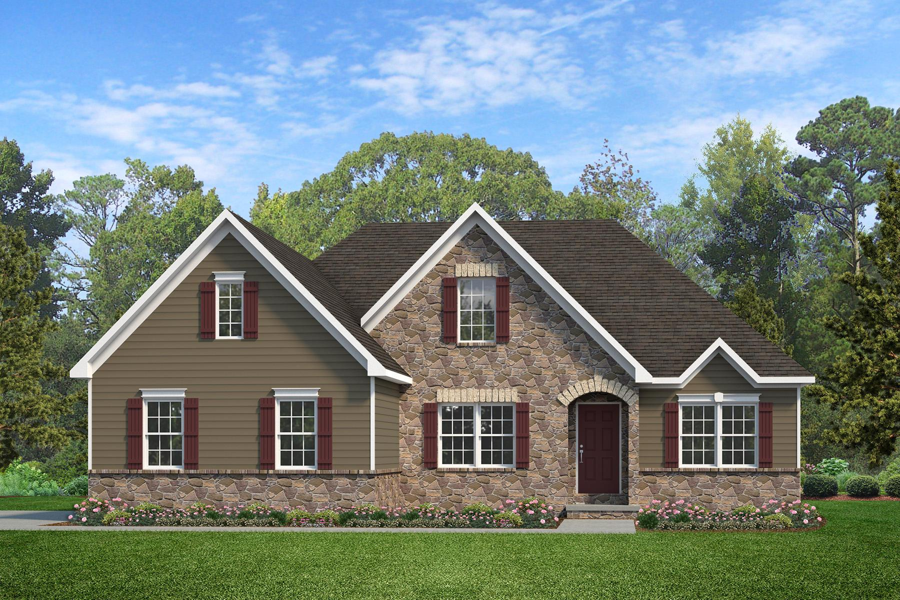 Exterior featured in the Arcadia Vintage By Keystone Custom Homes in Harrisburg, PA