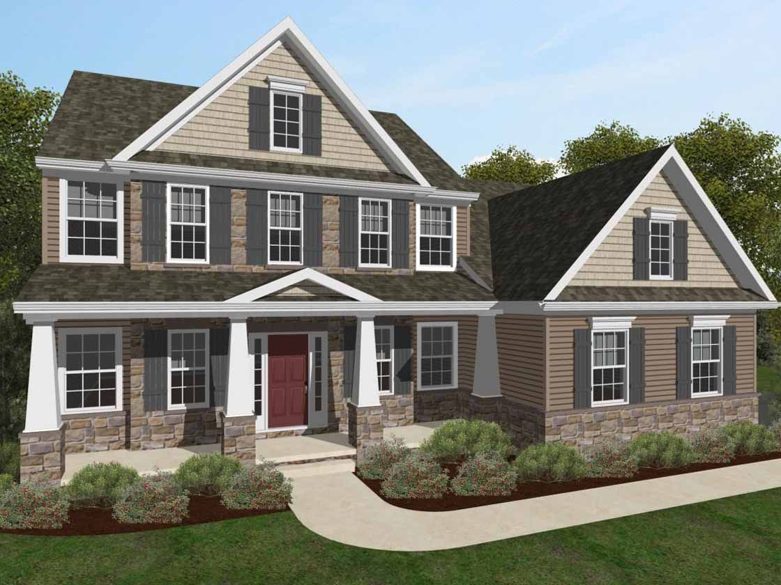 Exterior featured in the Augusta Manor By Keystone Custom Homes in Philadelphia, PA