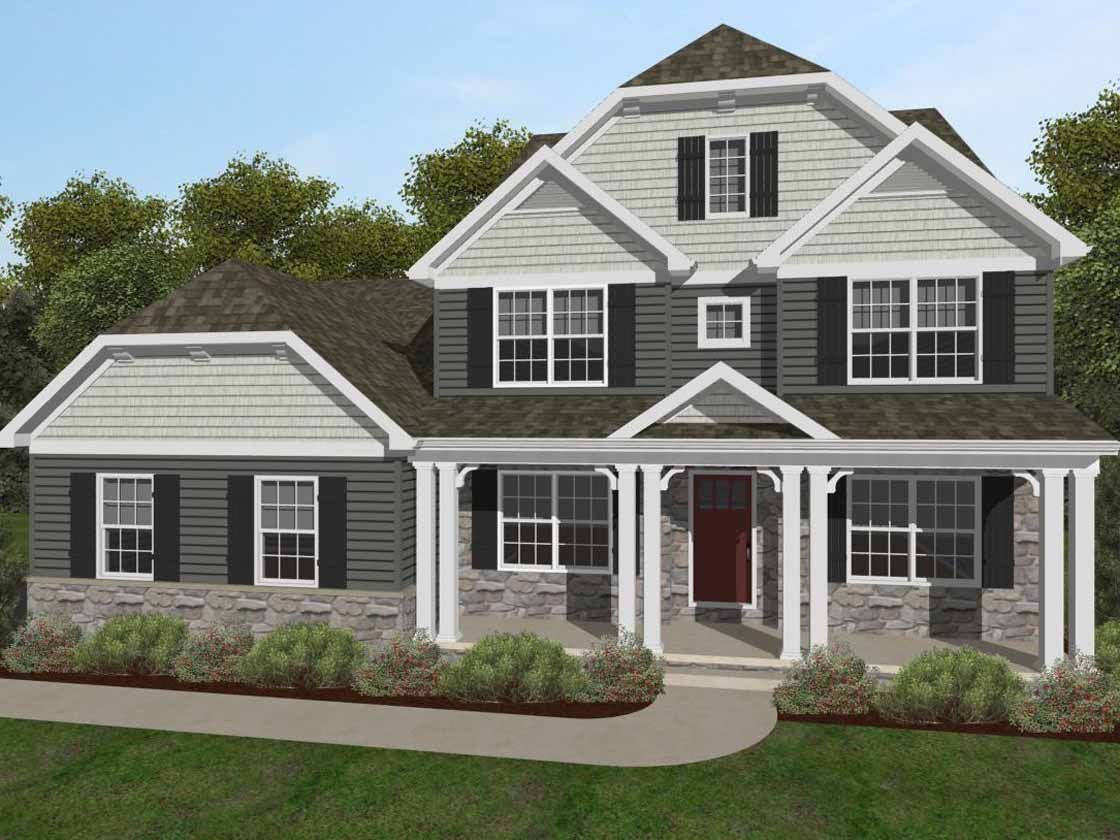 Exterior featured in the Nottingham Vintage By Keystone Custom Homes in Lancaster, PA