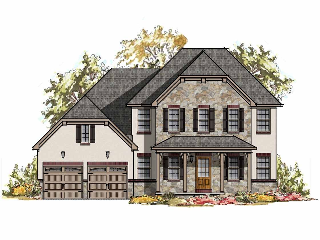 Exterior featured in the Augusta Bordeaux By Keystone Custom Homes in Harrisburg, PA