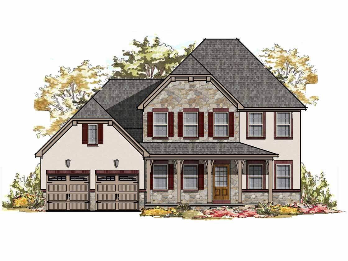 Exterior featured in the Nottingham Bordeaux By Keystone Custom Homes in Lancaster, PA