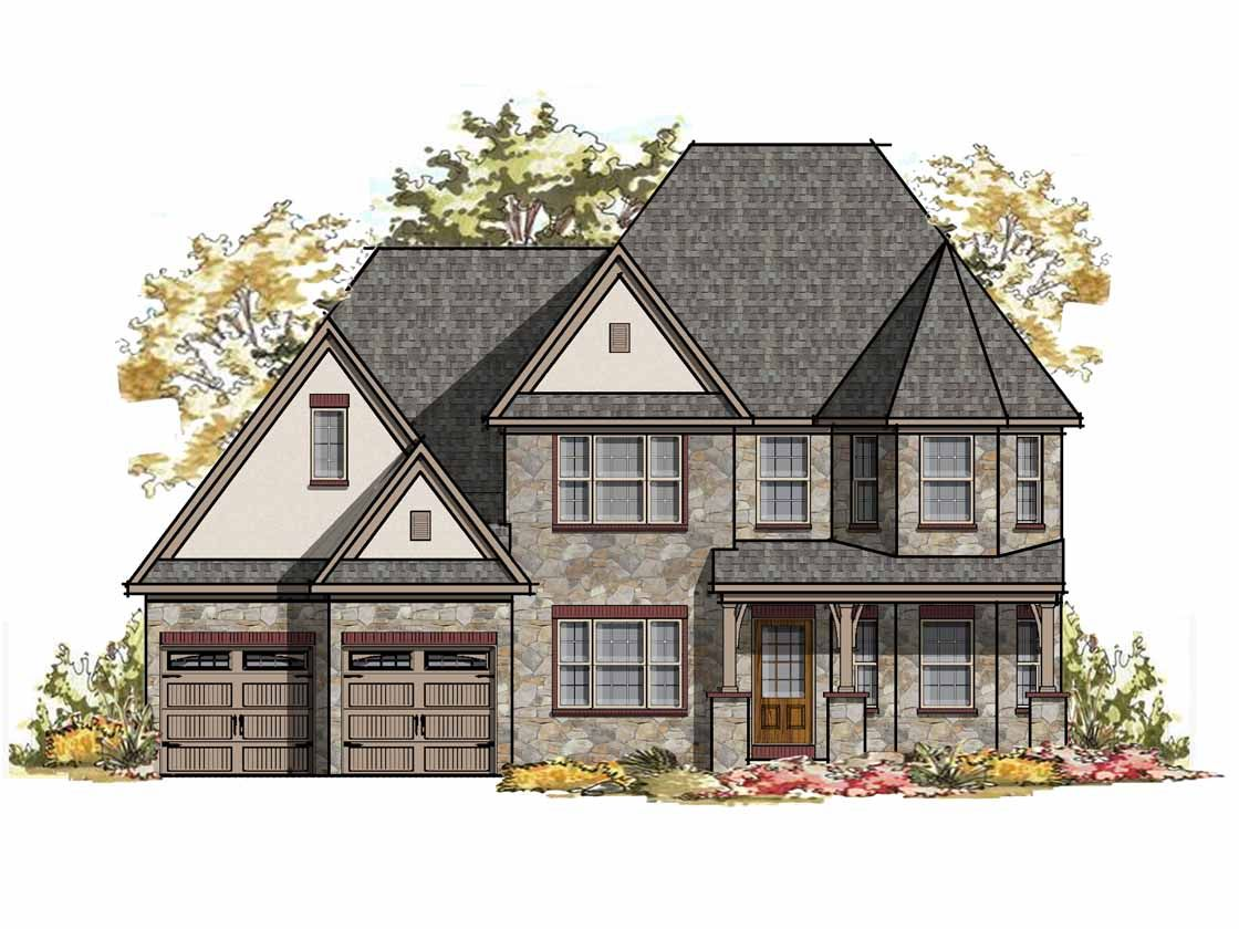 Exterior featured in the Nottingham Normandy By Keystone Custom Homes in Lancaster, PA