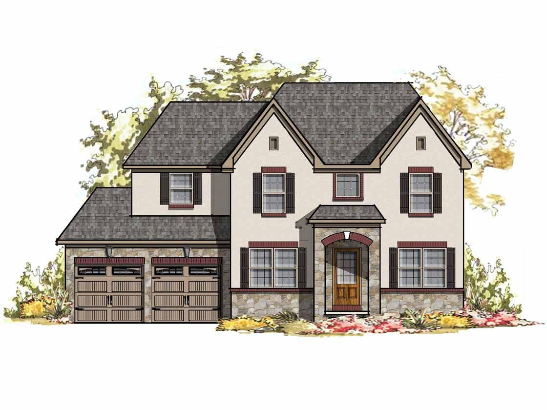 Exterior featured in the Windsor Normandy By Keystone Custom Homes in Philadelphia, PA