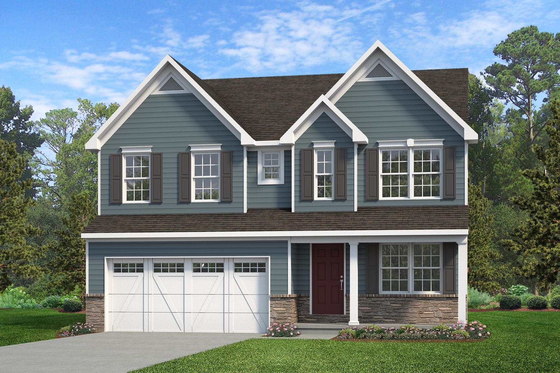 Exterior featured in the Brentwood Heritage By Keystone Custom Homes in Harrisburg, PA