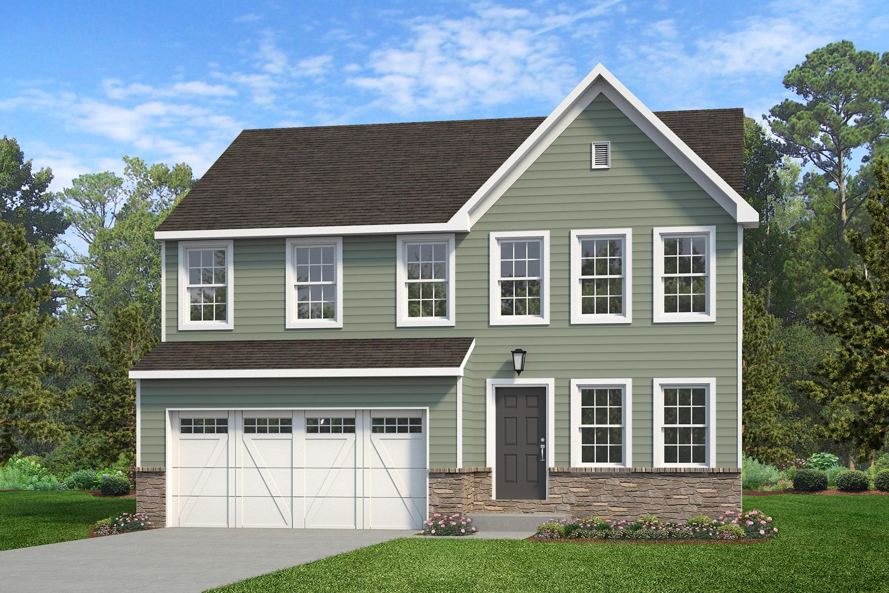Exterior featured in the Brentwood Traditional By Keystone Custom Homes in York, PA