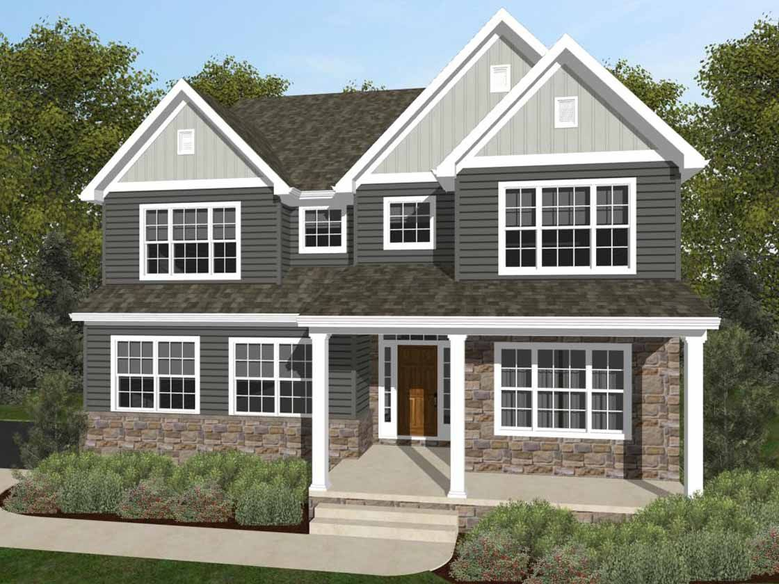 Exterior featured in the Covington Traditional By Keystone Custom Homes in York, PA