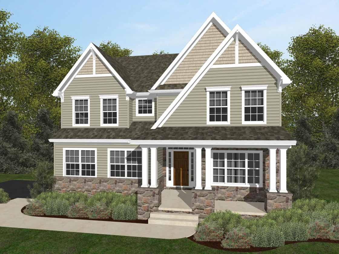 Exterior featured in the Covington Manor By Keystone Custom Homes in York, PA