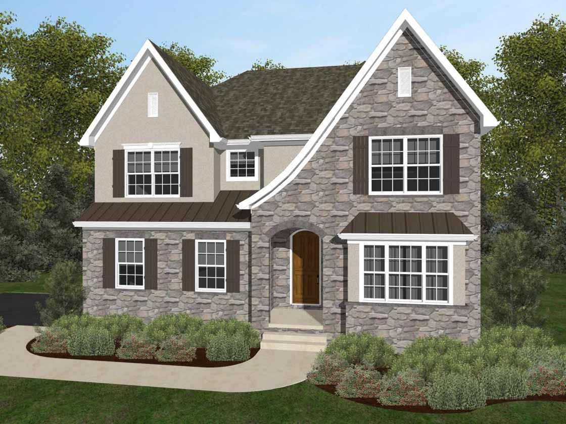 Exterior featured in the Covington Vintage By Keystone Custom Homes in York, PA