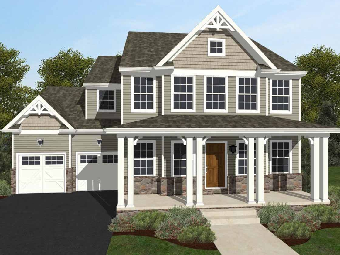 Exterior featured in the Addison Vintage By Keystone Custom Homes in York, PA