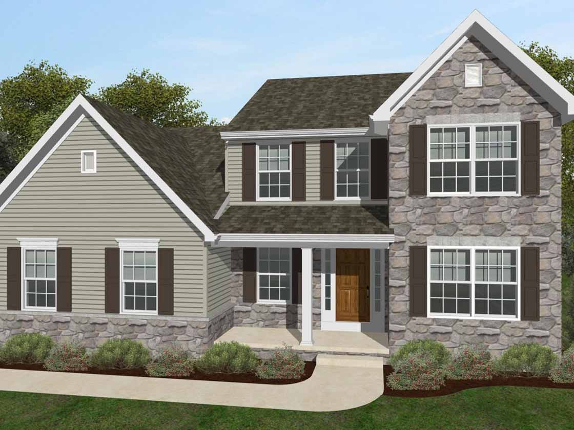 Exterior featured in the Sycamore Traditional By Keystone Custom Homes in York, PA