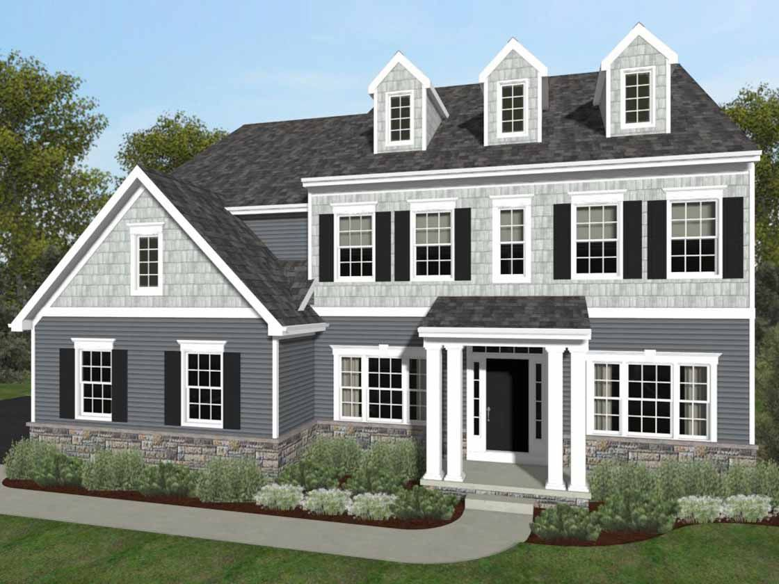 Exterior featured in the Devonshire Traditional By Keystone Custom Homes in Lancaster, PA