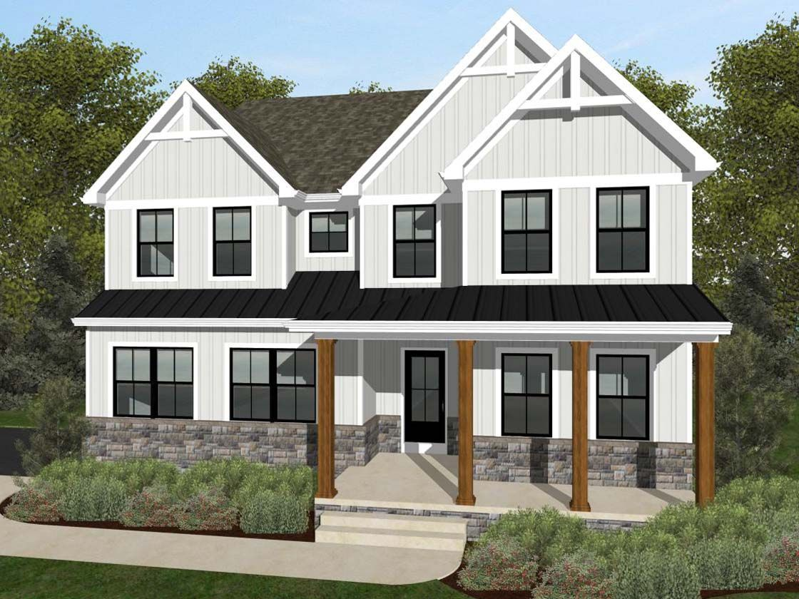 Exterior featured in the Covington Farmhouse By Keystone Custom Homes in York, PA