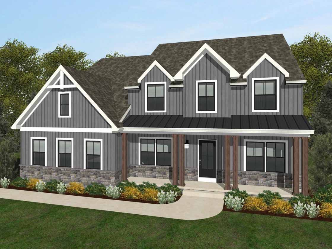 Exterior featured in the Ethan Farmhouse By Keystone Custom Homes in Baltimore, MD