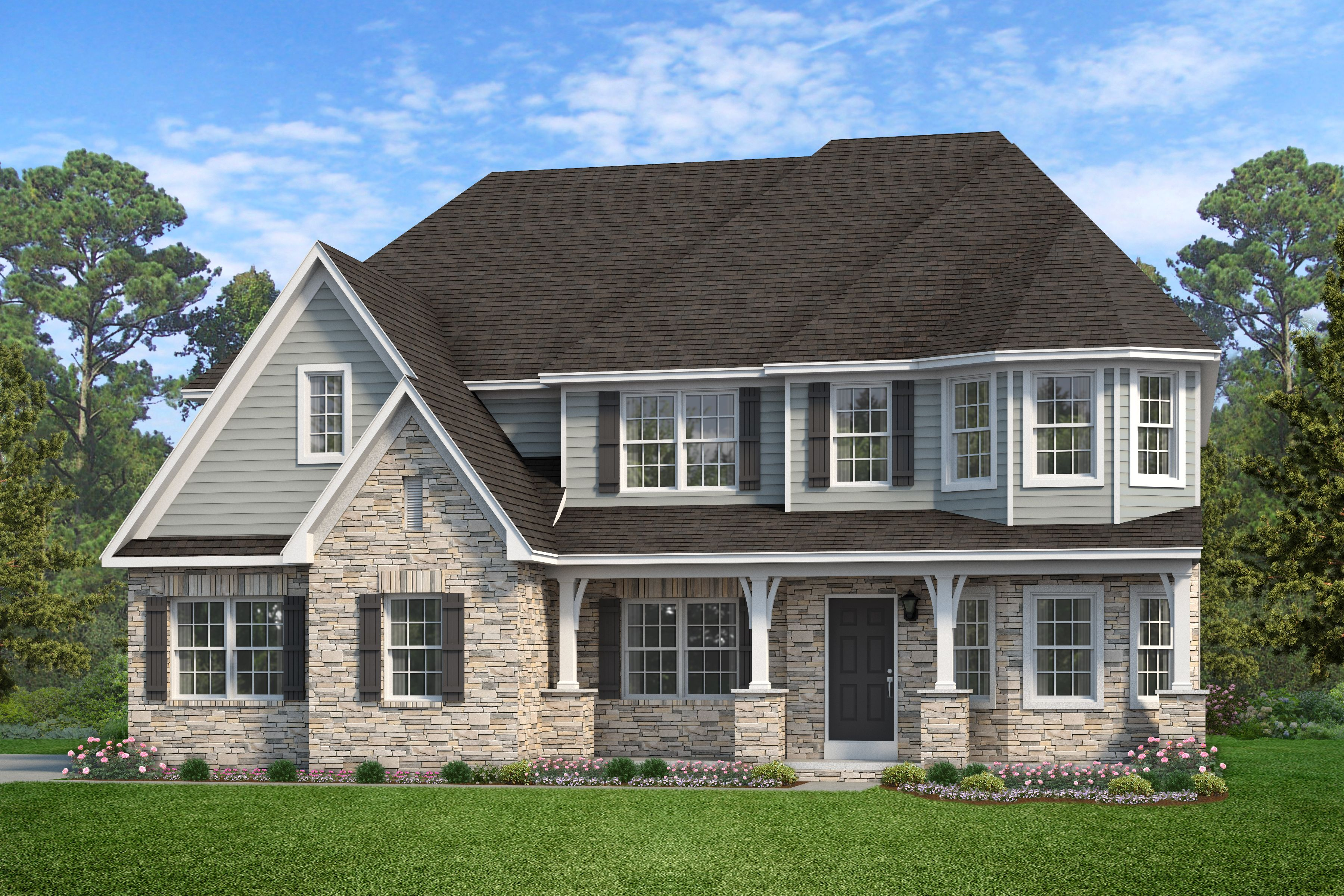 Exterior featured in the Hawthorne Manor By Keystone Custom Homes in Lancaster, PA
