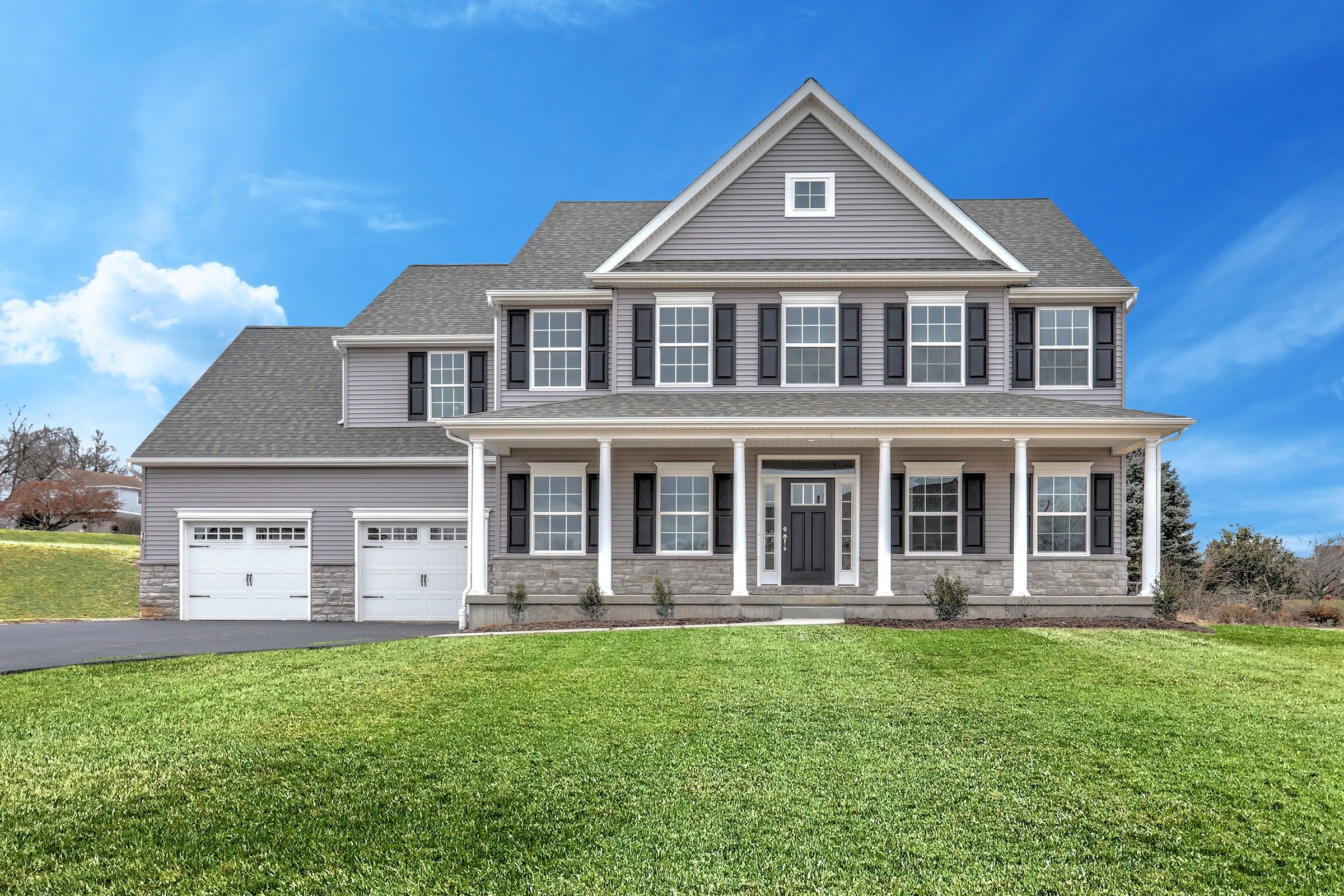 Exterior featured in the Oxford Vintage By Keystone Custom Homes in Harrisburg, PA